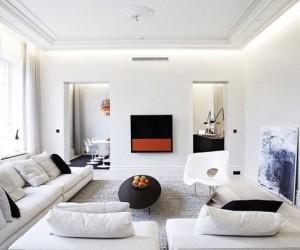 Bank conversion creates stunning Scandinavian style apartment