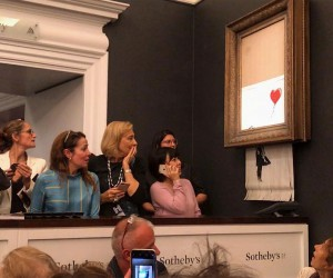 Banksy Artwork Self-destructs at Sothebys
