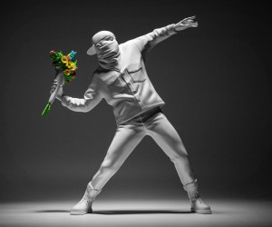 Banksy Flower Thrower Figurine
