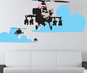 Banksy Happy Chopper Wall Decal
