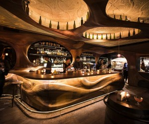 Bar Raval Toronto: Art Nouveau Meets Intoxicating Design in Sculpted Mahogany