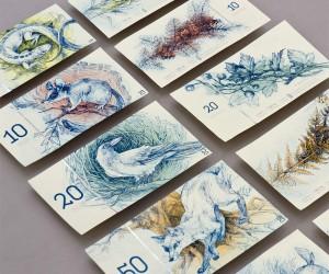 Barbara Bernt reimagines Hungarian Euro Banknotes