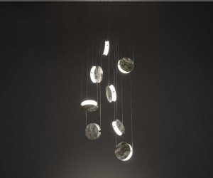Bartoli Design signs the Laurameroni Clis jewel lamps