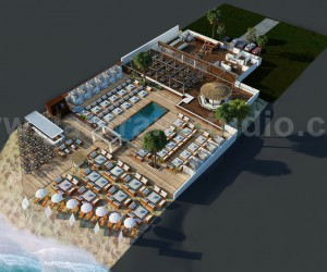 Beach Restaurant Floor Plan Examples  Ideas by Yantram floor Plan design companies - Paris, France