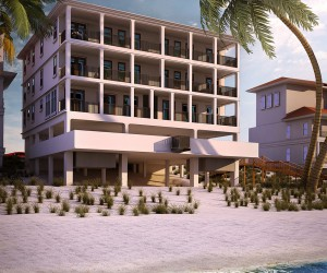 Beach Side Exterior House Rendering by Architectural Modeling Firm - Boston,USA