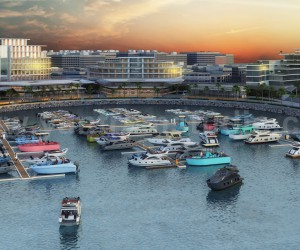 Beach Side Hotel Design with Yacht Station Developed by Yantram Architectural Rendering Studio, Dubai - UAE