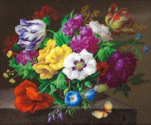 Beautiful and Realistic Flower Paintings by Joseph Nigg