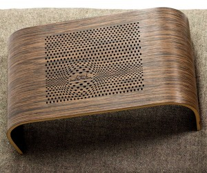 Beautiful Bent Wood Laser Cut Laptop Tray Table
