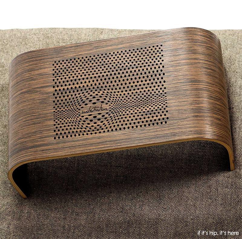 Beautiful Bent Wood Laser Cut Laptop Tray Table