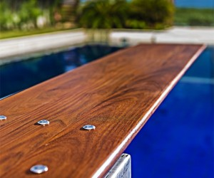 Beautiful Custom Wood Diving Boards by Mikel Tube