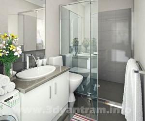 Beautiful Modern Bathroom Design Lighting View