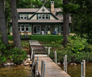Beautiful New England Cabin Designed For Relaxing Lakeside Getaways