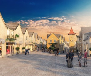 Beautiful Residential Street View Developed By Yantram Architectural Rendering Companies, Europe