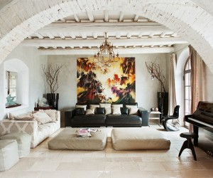Rustic and Modern Interior in Tuscany