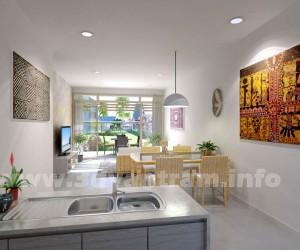 Beautifully Designed 3D Bold White Kitchen CGI