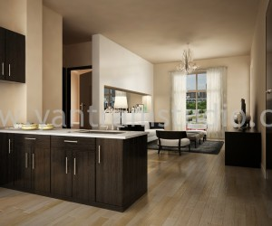 Beautifully Designed Kitchen by Yantram Interior Visualization firm - New York, USA