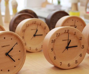 Beech Wood Table Clocks