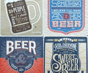 Beer Coasters For Letterpress Lovers