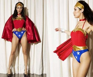 Bella Hadid Becomes Wonder Woman For Love Magazines 2015 Advent Calendar