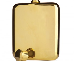 Belmont 14K Gold Hip Flask