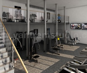 Best 3D Interior Design of Apartment with Gym Developed by Yantram Architectural Design Studio, Florida - USA
