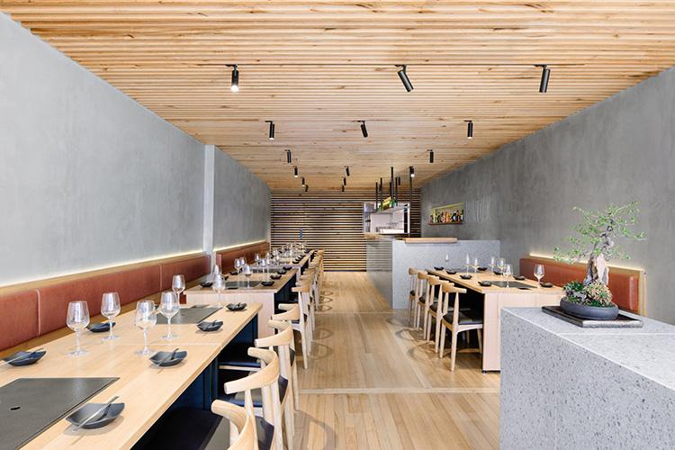 Biasol designs korean barbeque restaurant hinoak in melbourne