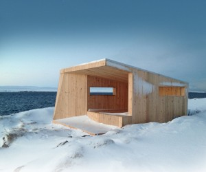 Bird Hide  Wind Shelter by Biotope