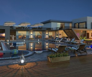 Bird View Exterior Design Rendering For Resort Visualisation