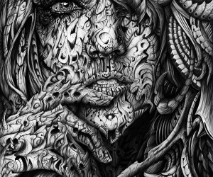 Black and White Digital Illustrations by Ren Campbell