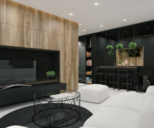 Black And White Interior Design Ideas: Modern Apartment by ID White