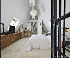 Black and White Loft in Paris
