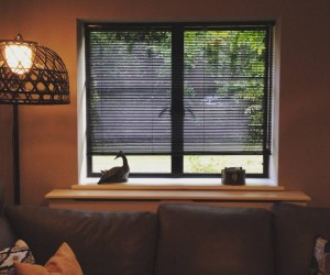 Black Metal Venetian Blinds