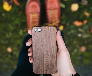 Black Walnut Wood iPhone Case