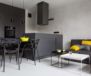 Black, White and Yellow Decor