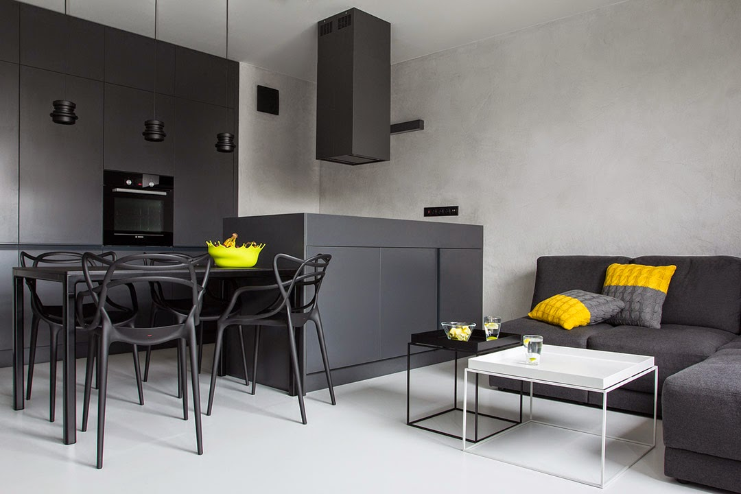 Black White And Yellow Decor