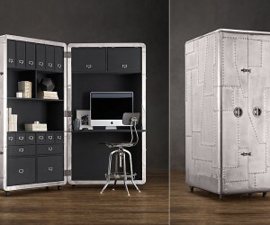 Blackhawk Secretary Trunk An Interesting Space Saving Workstation