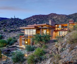 Blending In Contemporary Mountain Home with Majestic Views