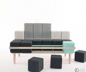 Bloc-d sofa by Scott Jones