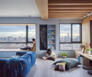 Blue and Glue Apartment by HAO Design