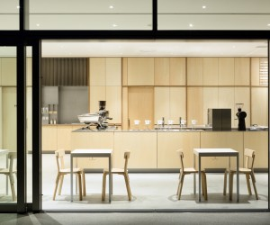 Blue Bottle Coffee Roppongi Cafe by Schemata Architects