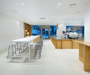 Blue Bottle Coffee Shinjuku Cafe by Schemata Architects