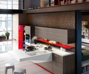 Board: Space-Saving Kitchen with Versatile Cantilevered Workstation