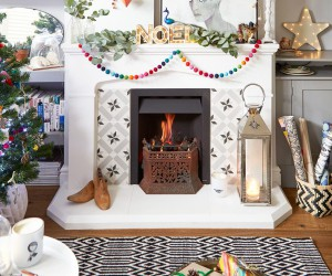 Boho chic Christmas home
