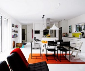 Bold colour accents