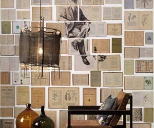 Bookish indulgence: the Biblioteca wallpaper collection