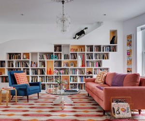 Books, Cats and Melon Popsicle: Brooklyn Row House Revamp Full of Personality