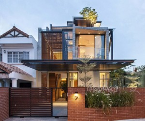 Breaking free iconic semi-detached house in Singapore