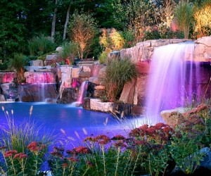 Breathtaking Pool Waterfalls