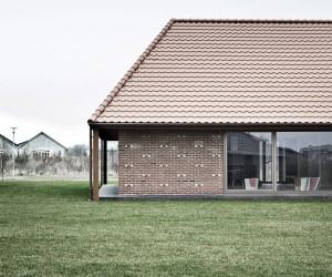 Brick House in Nyborg by Leth  Gori