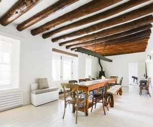 Bright and Trendy: Gorgeous White and Wood Dining Rooms to Savor